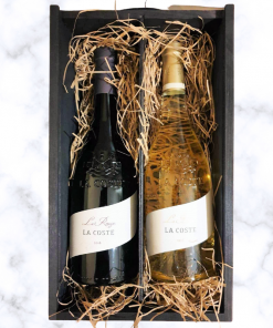 Chateau La Coste Le Rouge and Le Blanc in Wooden Gift Box