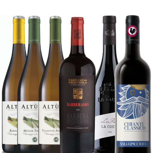 Mixed Case of Red & White Wines